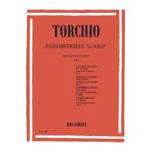 """TORCHIO Passi Difficili e """"A solo"""" per Flauto e ottavino Vol.1"""