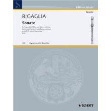 BIGAGLIA Sonate in A minor for Descant Recorder and Basso continuo