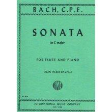 BACH C.P.E. Sonata in C major for Flute and Piano (Rampal)