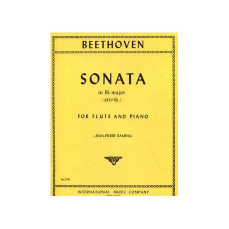 BEETHOVEN Sonata in B flat major for Flute and Piano (Rampal)