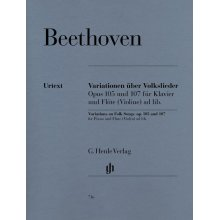 BEETHOVEN Variationen uber Volkslieder Op.105 und 107 fur Klavier und Flote