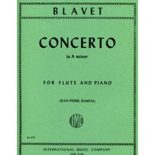 BLAVET M. Concerto in A minor for Flute and Piano (Rampal)
