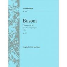 BUSONI F. Divertimento fur Flote und Orchester B-dur Op.52