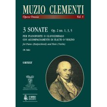 CLEMENTI M. 3 Sonate Op.2 nn. 1, 3, 5 for Piano and Flute