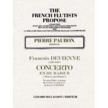 DEVIENNE F. Concerto n.1 en Re Majeur (Flute et Piano - Paubon)