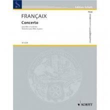 FRANCAIX J. Concerto pour Flute et Orchestre (flauto e pianoforte)