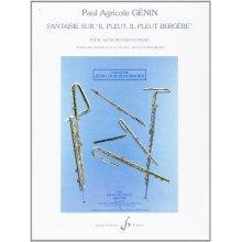 """GENIN P.A. Fantaisie sur """"il pleut, il pleut bergère"""" (flute piccolo et piano)"""