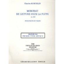 KOECHLIN C. Morceau de Lecture pour la Flute op.218