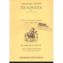NAUDOT J. Six Sonates Opus 1 pour flute et piano