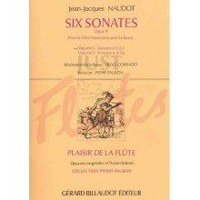 NAUDOT J. Six Sonates Opus 9 pour flute avec la basse (vol.1)