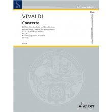 VIVALDI A. Concerto fur Flote, Streichorchester und Basso continuo FTR78