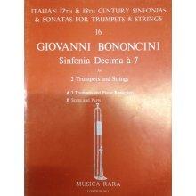 BONONCINI G. Sinfonia Decima a 7 for 2 Trumpets , Piano reduction