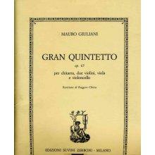 GIULIANI M. Gran Quintetto op.65 (parti staccate)