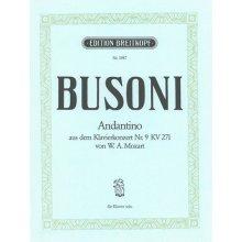 BUSONI F. Andantino from Mozart KV271