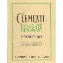 CLEMENTI M. 18 Sonate per Pianoforte (Piccioli) Vol.II