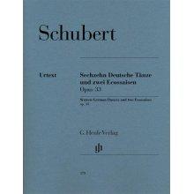 SCHUBERT F. Sechzehn Deutsche Tanze und zwei Ecossaisen Opus 33
