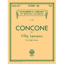 CONCONE 50 Lessons, Op.9 for High Voice