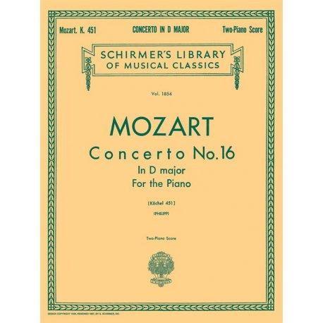 MOZART W.A. Concerto No.16 in D major K.451
