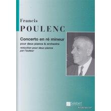 POULENC F. Concerto en ré mineur