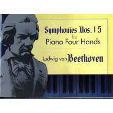 BEETHOVEN L.van Symphonies Nos.1-5 for Piano Four Hands
