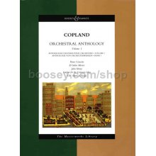 COPLAND A. Orchestral Anthology Volume I