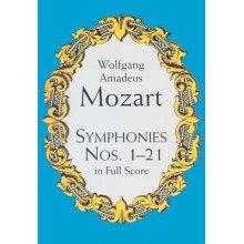 MOZART W.A. Symphonies Nos. 1-21 in Full Score