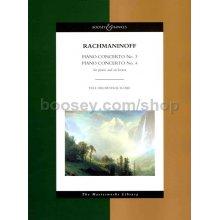 RACHMANINOFF S. Piano Concerto n.3 & Piano Concerto n.4 - Full Orchestral Score