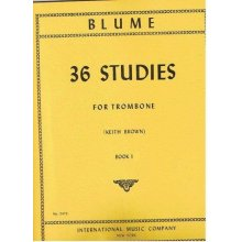 BLUME O. 36 Studies for Trombone book 1