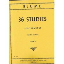 BLUME O. 36 Studies for Trombone book 2