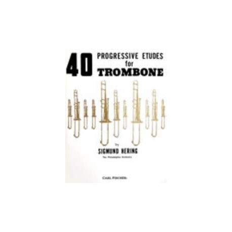 HERING S. 40 Progressive Etudes for Trombone