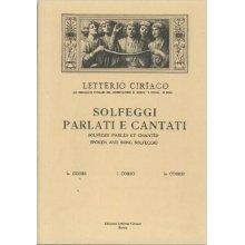 CIRIACO L. Solfeggi Parlati e Cantati (I corso parte seconda)
