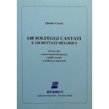 CURZI Q. 148 Solfeggi Cantati e 120 Dettati Melodici