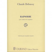 DEBUSSY C. Rapsodie pour Orchestre et Saxophone (Piano et Sax)