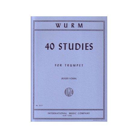 WURM W. 40 Studies for Trumpet