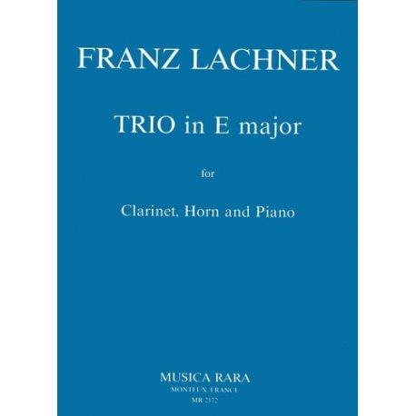 LACHNER F. Trio in E major for Clarinet, Horn, Piano