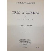 MARTINU B. Trio à Cordes