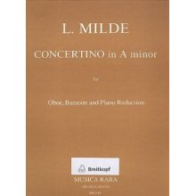 MILDE L. concertino in A minor for Oboe, Bassoon and Piano Reduction