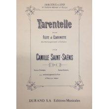 SAINT-SAENS C. Tarentelle pour Flute, Clarinette et Piano op.6