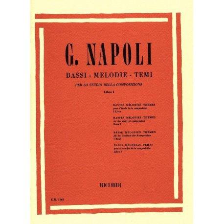 NAPOLI G. Bassi, Melodie, Temi per lo studio della composizione Vol.1