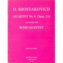 SHOSTAKOVICH D. Quartet n.8 op.110 for wind quintet
