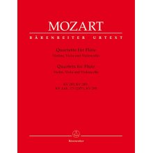 MOZART W.A. Quartets for Flute, Violin, Viola and Violoncello
