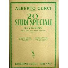 CURCI A. 20 Studi Speciali per Violino op.24