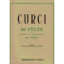 CURCI A. 60 Studi in II.III.IV.V.VI.VII posizione