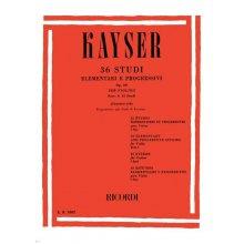 KAYSER P. 36 Studi per Violino Op.20 Fasc.1