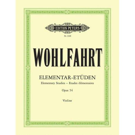 WOHLFAHRT F. Elementar-Etuden Opus 54