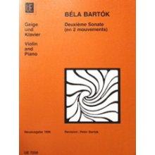 BARTOK B. Deuxième Sonate en 2 mouvements