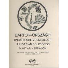 BARTOK B. Ungarische Volkslieder