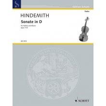 HINDEMITH P. Sonate in D fur Violine und Klavier op.11 n.2