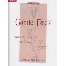 FAURE' G. Sonata No.1 Op.13 for Violin and Piano