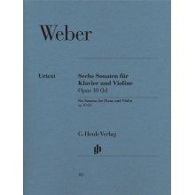 WEBER C.M.von Sechs Sonaten Klavier & Violine Op.10